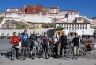 Group picture in front of the Potala Palace - start of our bike tour