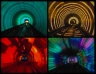 "Ride in the psychedelic ""Transit-Tunnel"" train"